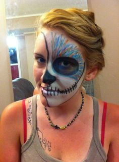 Fantastic Day of the Dead Sugar Skull from Tracy using Surreal Makeup
