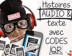 12 signets iPad-Histoires AUDIO avec #QRcodes #daily5 #FREEBIE Ap French, French Class, French Lessons, Learn French, French Teaching Resources, Teaching French, High School French, World Language Classroom, French Immersion