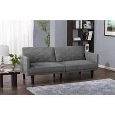 Medium image of dhp grey paxson linen futon   overstock   shopping   the best deals on futons