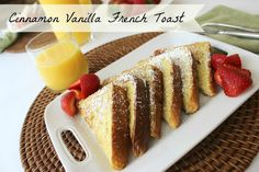 Cinnamon Vanilla French Toast #breakfast #recipe