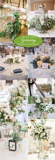 Greenery wedding centerpiece decor ideas / http://www.deerpearlflowers.com/greenery-wedding-decor-ideas/