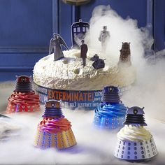 """I-am-a-cupcake! De-co-rate! De-co-rate!"" Daleks you can crumble and smother in buttercream, photo © Lakeland"