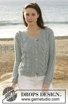 DROPS 101-7 - Gilet Drops en point fantaisie à nopes en Silke Alpaca - Free pattern by DROPS Design