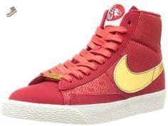 Nike Women's Blazer Mid Yoth Shoes Gym Red/Metallic Gold 7 - Nike sneakers for women (*Amazon Partner-Link)