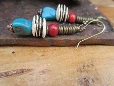 Boucles d'oreille tribales:  Arizona's Dream par annemarietollet