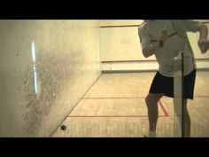 Squash Solodrill 8: improve your deep backwall shots: alternate high and low shots - YouTube