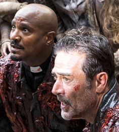 Negan and Father Gabriel in The Walking Dead Season 8 Episode 5 | The Big Scary U