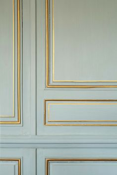 versailles-style * {lonny -- gold accented moldings}