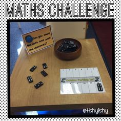 How quickly can you park the dominoes? Montessori Math, Preschool Math, Kindergarten Math, Teaching Math, Maths Eyfs, Numeracy Activities, Eyfs Classroom, Classroom Ideas, Early Years Maths