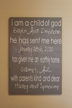 Great idea for a baby homecoming gift