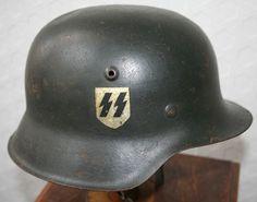 WW2 GERMAN M42 SS SINGLE DECAL HELMET | Militaria | WARSTUFF