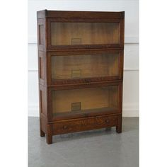 Image of Antique Oak Barrister Stacking Bookcase