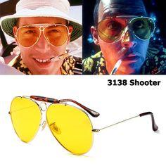 JackJad New Fashion 3138 SHOOTER Style Vintage Aviator Sunglasses Metal Circle Brand Design Sun Glasses Oculos De Sol With Hood