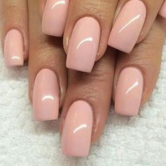 Soft pink nails More