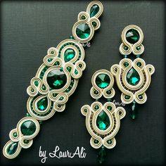 Handmade by LaurAli jewelry ( Jewelry Clasps, Gems Jewelry, Art Deco Jewelry, Crystal Jewelry, Jewelery, Boho Jewelry, Jewelry Design, Fashion Jewelry, Soutache Bracelet