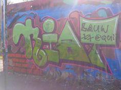 graffiti op een skate baan (fantasie, bovenkast, romein)