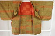 Kimono Dress Japan Vintage haori coat Geisha costume used silk 168_D02S10_2