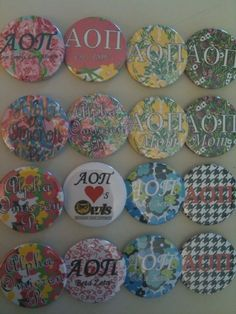 I guess I should pin this since I made these! Except the houndstooth, the blue & green one, & the pink & white xoxo one, those were done by @Grace Hagemann <3 AOII