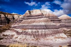 striped mountain Petrified Forest National Park (pinned by haw-creek.com)