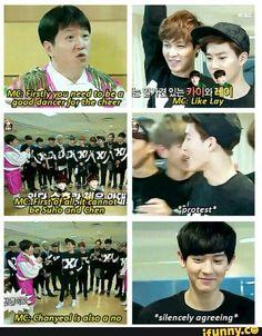 MC Hyungdon knows EXO very well lol
