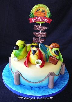 Guaranteed to be a happy birthday with a cake like this. #parrothead