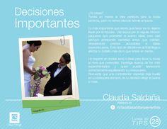 Tip de boda 28 - Decisiones importantes
