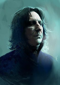 Professor Snape as played by the late Alan Rickman l kittrose// on Tumblr