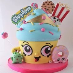 Cupcake Queen Informations About Shopkins Cake. Best Picture For Shopkins Cake eas Shopkins Cupcake Cake, Shopkins Birthday Cake, Cheeky Chocolate Shopkins, Cupcakes, Cupcake Cakes, Cookie Swirl C, Cupcake Queen, Birthday Party Centerpieces, Sculpted Cakes
