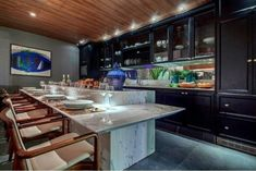 Küchenbilder Beleuchtung Bar Atmosphäre