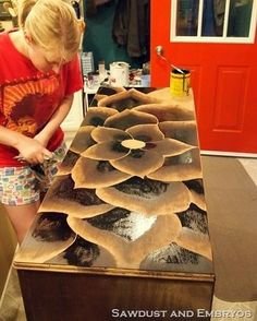 DIY! How To Make Stain Artwork On Old Furniture......