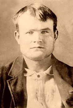 Young Butch Cassidy--mug shot after he was arrested for horse stealing in Wyoming.