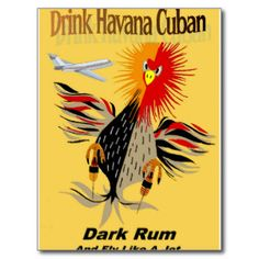 Havana Dark Rum Vintage Advertising Print Post Card