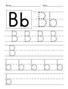 Free Handwriting Worksheets, Alphabet Tracing Worksheets, Printable Preschool Worksheets, English Worksheets For Kids, Tracing Letters, Alphabet Worksheets, Alphabet Writing Practice, Alphabet Book, Learning Letters