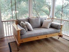 Porch Swing The Daniel Island Cedar Swing By LowcountrySwingBeds Outdoor Bed Swing