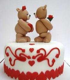 Bolos decorados Dia dos Namorados