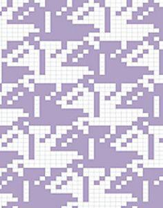 Ravelry: Escher Birds (variant pattern by Reena Meijer Drees Cross Stitch Cushion, Cross Stitch Bird, Intarsia Patterns, Knitting Patterns, Mc Escher, Tapestry Crochet, Knitting Charts, Bird Design, Knitting Projects