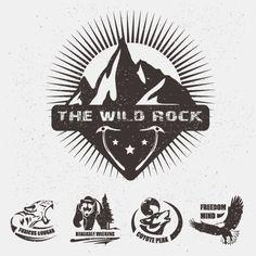 Animal logo illustration vintage vector material 05