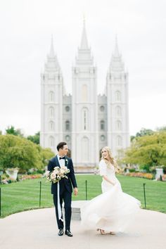 SLC Wedding | wedding photography, bride, bridal, destination, photos, black tux, bridesmaid, garden bouquet, flowers, Utah Wedding, Limor Rosen bridal gown, Backyard Wedding, dusty blue | Kenzie Victory Photography – Destination Wedding Photographer