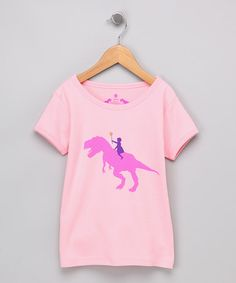 Take a look at this Pink Dino Rider Short-Sleeve Tee - Toddler & Girls by Jusami on #zulily today!