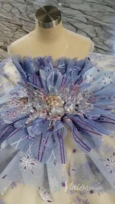 Frozen Inspired Ball Gown Princess Prom Dresses for Girls KD1001