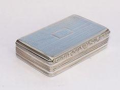 ANTIQUE GEORGIAN SOLID SILVER STERLING SNUFF BOX LEOPARD MOTIF BIRMINGHAM 1829 #EdwardSmith