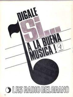 Programa de Terrabusi. Radio BELGRANO de Buenos Aires, década del 70.