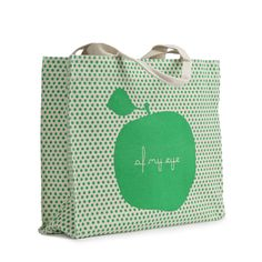 Apple tote - green apple