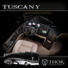 Voted the Sexiest Luxury Diesel Motorhomes of 2013.... The New Tuscany Diesel Pushers The Classiest Class A Coach now comes Standard with Aqua-Hot~! http://TuscanyRV.com or http://ThorMotorCoach.com These Diesel Motorhomes are available in the US and Canada...