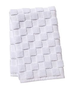 """Luxurious checkered 100% Turkish Cotton Guest Towel. HT01 Guest Towel** - White Terry, No Embroidery (12""""x19"""")"""