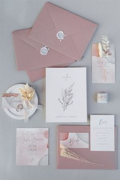 Beneath an outsized cloud of pampas grass and dried foliage, this beautiful wedding ceremony design Modern Wedding Invitations, Wedding Stationary, Wedding Invitation Cards, Wedding Cards, Wedding Card Design, Destination Wedding, Wedding Planning, Wedding Calligraphy, Cowgirl Wedding