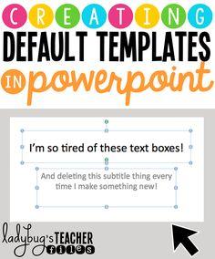 665 best powerpoint tips images on pinterest online schooling creating default templates in powerpoint toneelgroepblik Gallery