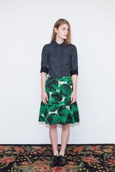 Summer skirt Green skirt Midi skirt Tropical skirt by KerenMualem