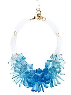 MARINA FOSSATI Floral Crystal Necklace