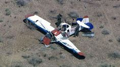 One person was killed Thursday afternoon when a small plane crashed in the high desert north of Los Angeles.